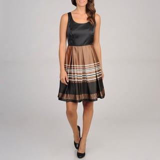 Cece's New York Women's Boarder Print Party Dress