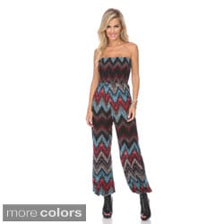 Stanzino Women's Multicolored Chevron Jumpsuit