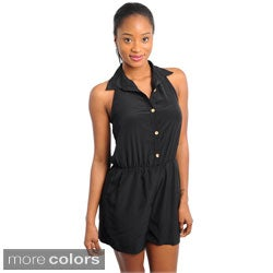 Stanzino Women's Sleeveless Collared Romper