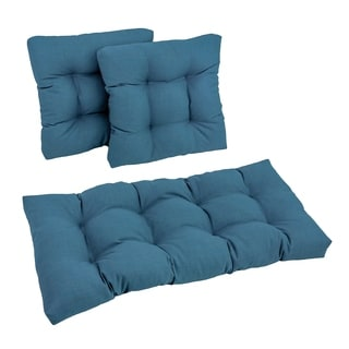 Blazing Needles Outdoor Spun Poly Settee Cushions (Set of 3)