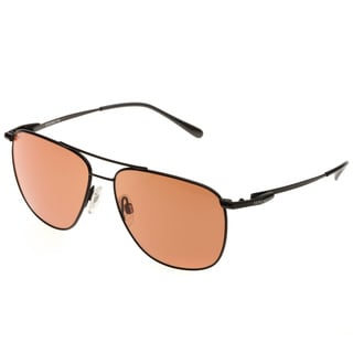 Serengeti Men's 'Marco' Satin Black Aviator Sunglasses