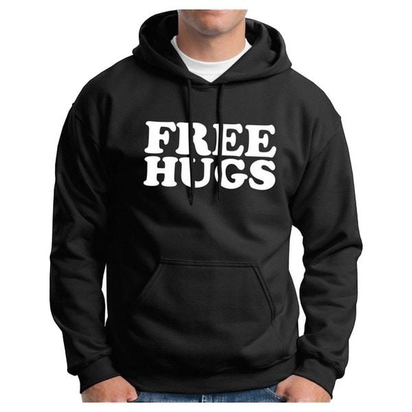 Men's Black 'Free Hugs' Hoodie