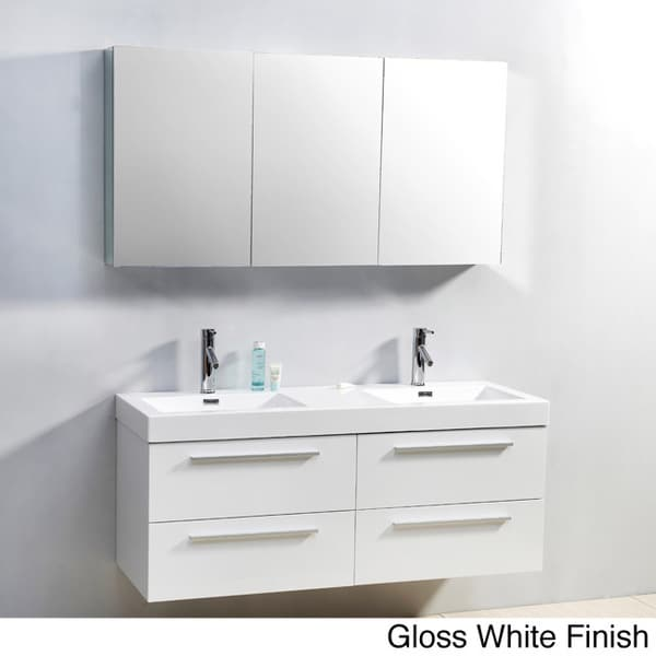Virtu usa finley 54 inch double sink bathroom vanity set - 50 inch double sink bathroom vanity ...