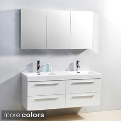 Virtu USA Finley 54-Inch Double Sink Bathroom Vanity Set