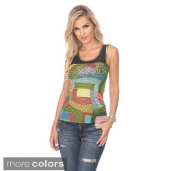 Stanzino Juniors Chevron Print Sleeveless Mesh Top