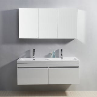 Virtu USA Zuri 55-Inch Double Sink Vanity