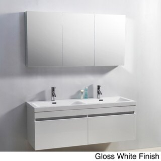 Virtu Usa Zuri 55 Inch Double Sink Vanity Overstock Shopping Great Deals On Virtu Bathroom