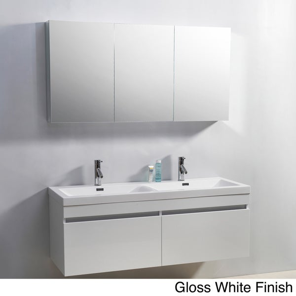 Virtu usa zuri 55 inch double sink vanity 15623688 shopping great deals on for 55 inch double sink bathroom vanity