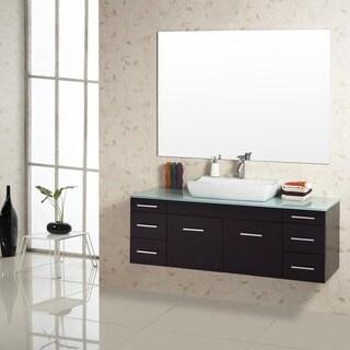 Virtu USA Biagio 56-Inch Single Sink Bathroom Vanity Set
