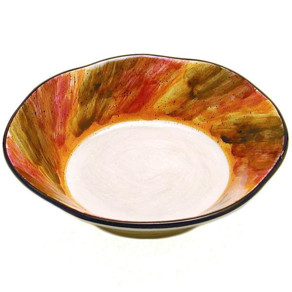 Tortoise Shell Ceramic Pasta Bowl (Italy) 11639725