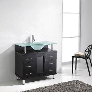 Virtu USA Vincente 36-inch Single Sink Bathroom Vanity Set