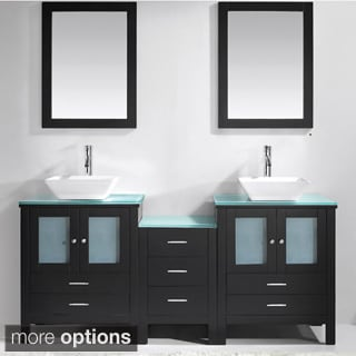 Virtu USA Brentford 72-Inch Double Sink Bathroom Vanity Set