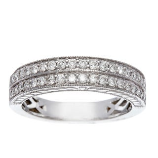 14k White Gold 1/2ct TDW Certified Diamond Wedding Band (H-I, I1-I2)