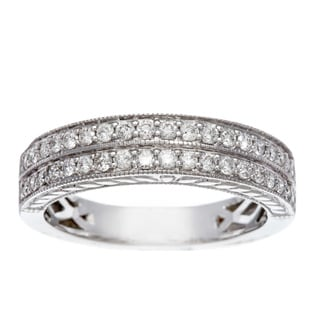 Sofia 14k White Gold 1/2ct TDW Certified Diamond Wedding Band (H-I, I1-I2)