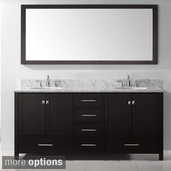 Virtu USA Caroline Avenue 72-inch Double Sink Bathroom Vanity Set