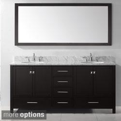 Virtu USA Caroline Avenue 72-inch Double Sink Bathroom Vanity Set