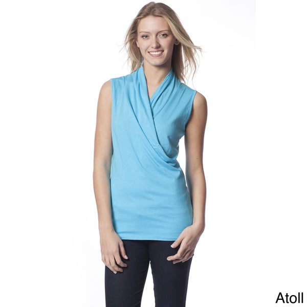 AtoZ Women's Sleeveless Wrap Top