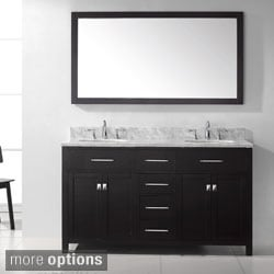 Virtu USA Caroline 60-inch Double Sink Bathroom Vanity Set