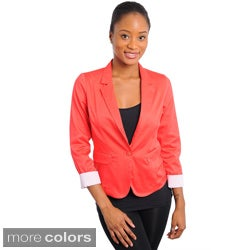 Stanzino Women's Cuffed 1-button Blazer