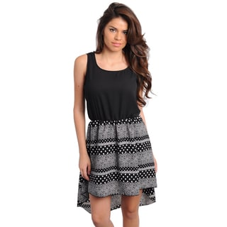 Stanzino Women's Two-tone High-low Casual Dress