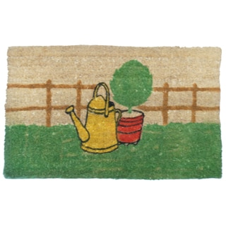 Rubber-Cal 'Herb Garden' Coir Welcome Doormat (18 x 30)