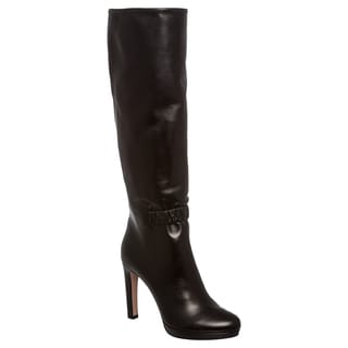 Prada Women's Black Leather Platform Boots