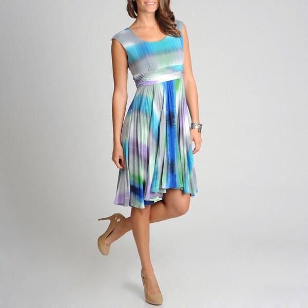 R & M Richards Women's Petite Ombre Print Dress