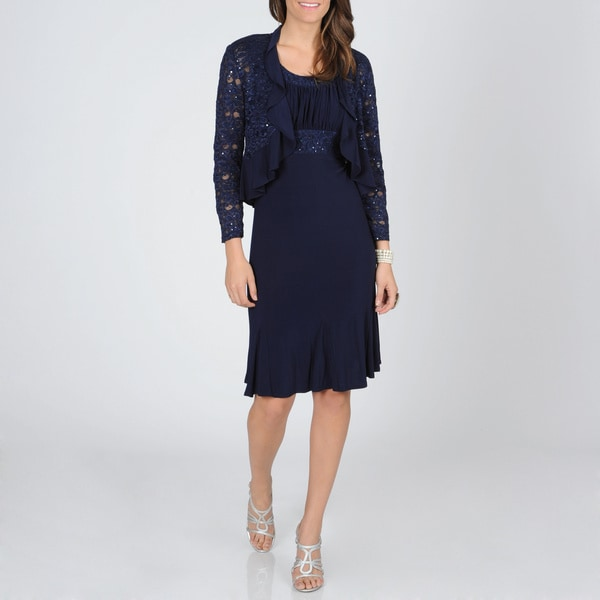 Cool Grab A Contrasting Or Coordinating Petite Size Blazer And Youre Set For A Day At The Office  The Danny &amp Nicole Womens Petite Lace Jacket Dress Comes In Sizes Up To 16Petite And Features A Classic Cream And Black Combo With Black