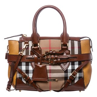 Burberry Small Bridle House Check Gladstone Tote