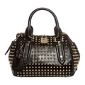 Burberry 'Blaze' Small Black Studded Leather Satchel