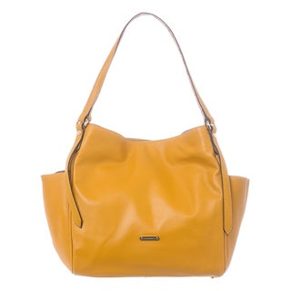 Burberry 'Canterbury' Small Yellow Leather Tote