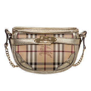 Burberry 'Langford' Mini Haymarket Crossbody Bag