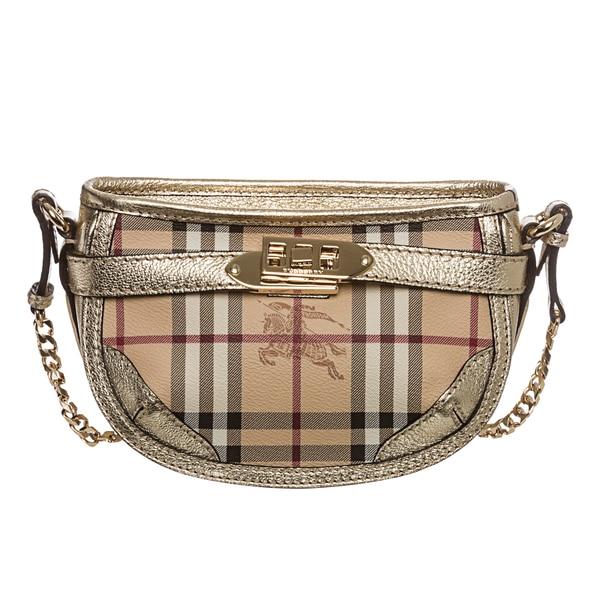 Burberry 'Langford' Mini Haymarket Crossbody Bag