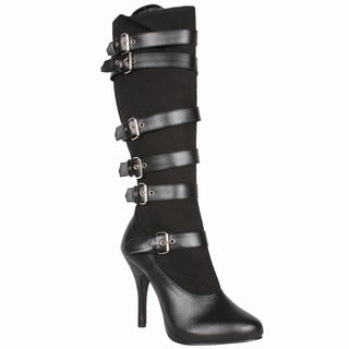 Funtasma Women's 'Arena-2030' Black Knee-high Strappy Boots