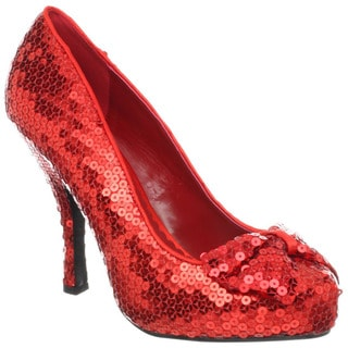 Funtasma Women's 'Oz-06' Red Sequined Bow Pumps