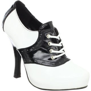 Funtasma Women's 'Saddle-48' Black/ White Oxford Pumps