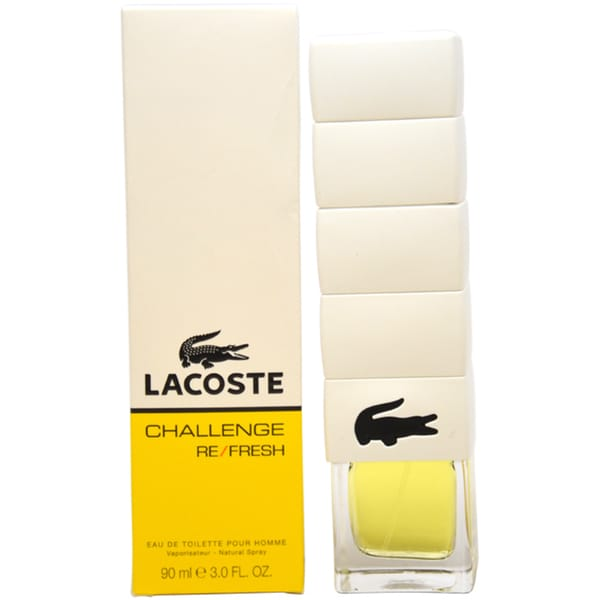Lacoste Challenge Refresh Men's 3-ounce Eau de Toilette Spray