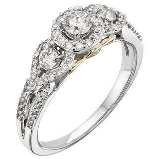 14k White Gold 1ct TW Certified Diamond Engagement Ring (H-I, I1-I2)