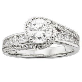 14k White Gold 1 3/4ct TDW Round-cut Certified Diamond Engagement Ring (H-I, I1)