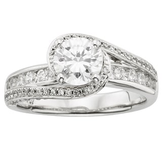 Sofia 14k White Gold 1 3/4ct TDW Round-cut Certified Diamond Engagement Ring (H-I, I1)