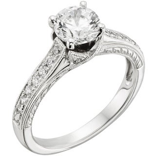 14k White Gold 1 1/4ct TDW Certified Diamond Engagement Ring (H-I, I1)