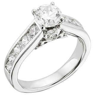 14k White Gold 2ct TDW Certified Diamond Engagement Ring (H-I, I1)