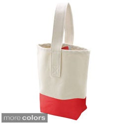 Color Dipped Canvas Wine Tote