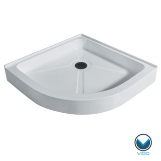 VIGO White 40-Inch Neo-Round Shower Tray
