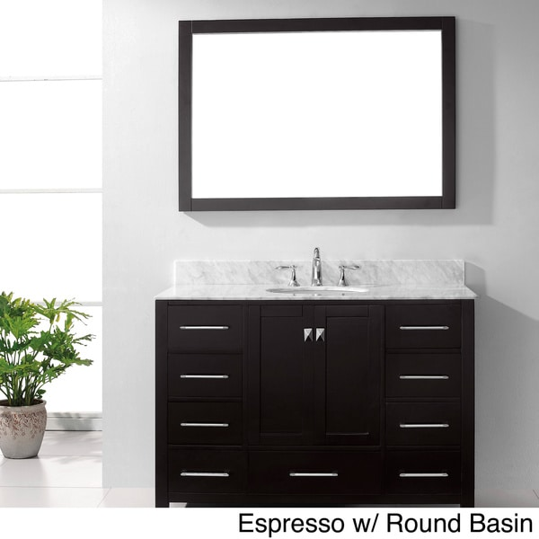 Virtu usa caroline avenue 48 inch single sink bathroom for Virtu usa caroline 36 inch single sink bathroom vanity set