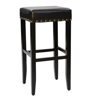 Marco 31-inch Upholstered Nailhead Bar Stool