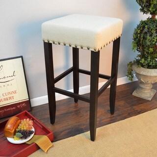 Marco 31-inch Upholstered Nailhead Bar Stool