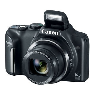 Canon PowerShot SX170 IS 16MP Black Digital Camera