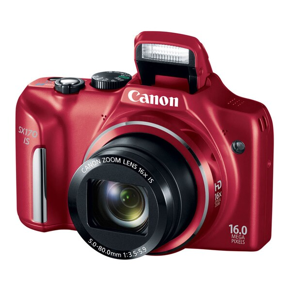 Canon Powershot SX170 IS 16MP Red Digital Camera