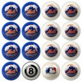 MLB Major League Baseball New York Mets Billiards Pool Ball Set